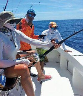 Sport fishing action aboard Amazing Grace