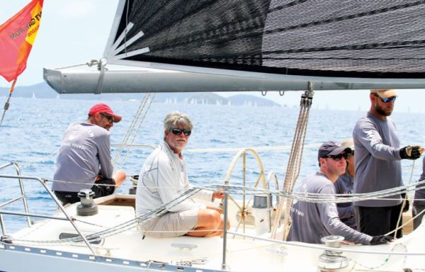 After three days of racing, Commodore of the Royal BVI Yacht Club, Chris Haycraft's Sirena 38, Pipedream won Racing 2. Photo: BVISR/www.ingridabery.com