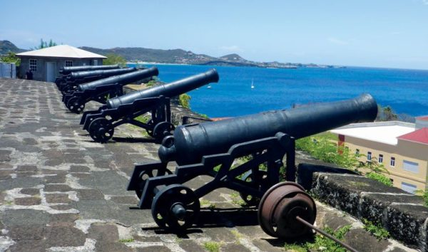 Some of Fort George's cannons are kept in working order and fire salutes on special occasions. Photo Rosie Burr