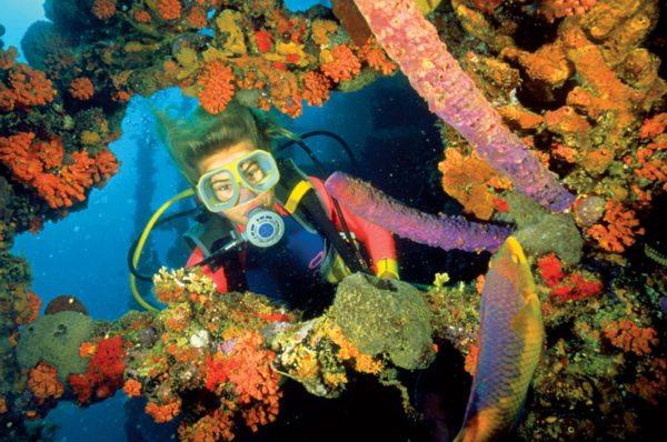 Diving the 400ft Antilla, sunk off Aruba
