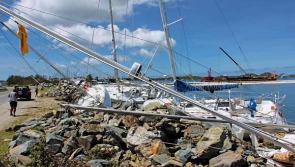 Sad sight following a category 1 hurricane. Photo: OceanMedia
