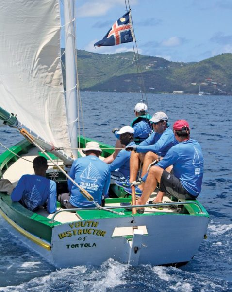 A week-long regatta allows time for extra events such as the Marine Heritage Day at the BVI Spring Regatta, where the territory's historic Tortola sloops are raced. Photo: Christophe Courou