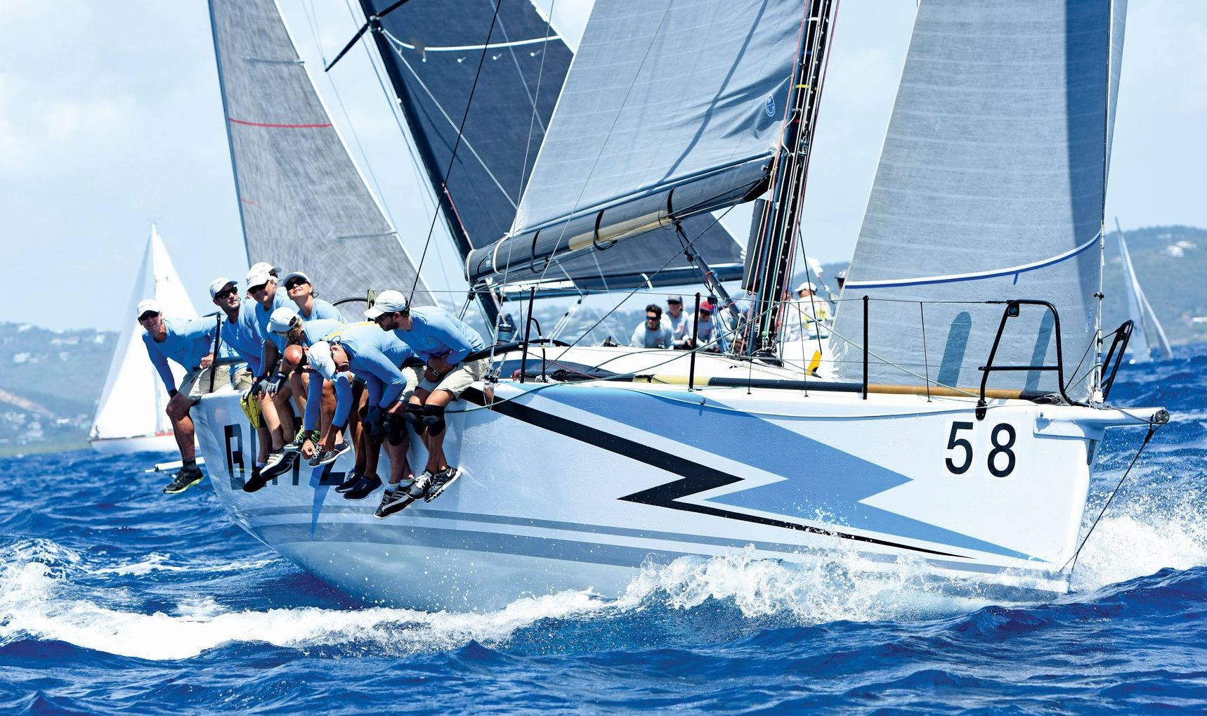With her distinctive paint job, Blitz stormed through the season winning four regattas in a row. Photo: Dean Barnes