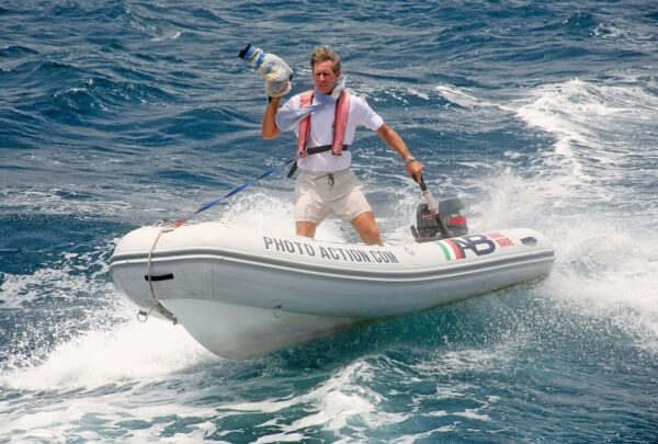 Famed Caribbean marine photographer Tim Wright in action