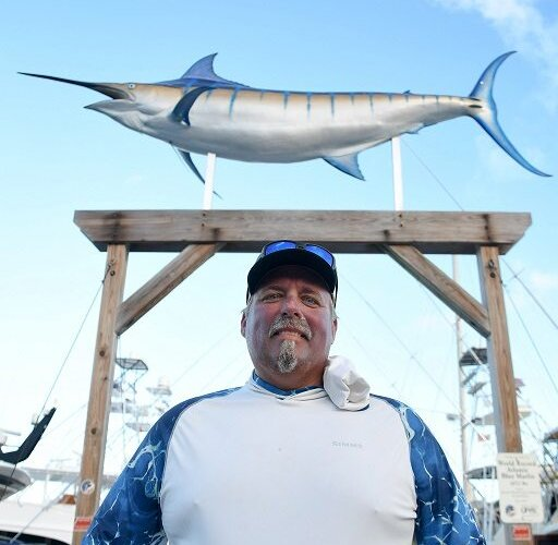 Chad Damron, owner/angler aboard Sodium, leads after the first day of fishing. Credit: Dean Barnes