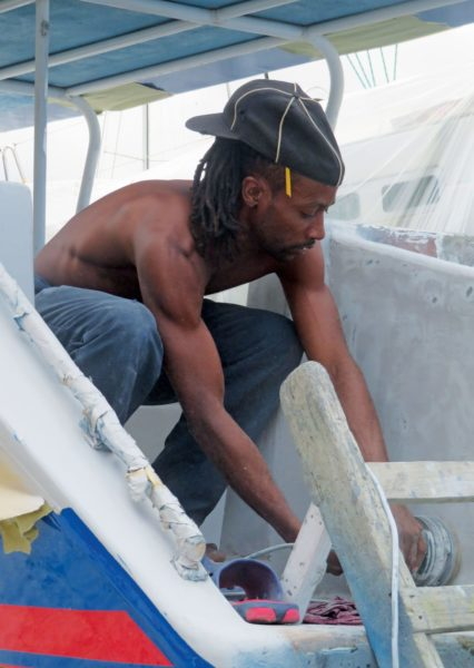 There are many jobs ashore in boatyard for those who would like to work on boats. Photo courtesy of IGY Rodney Bay Boatyard