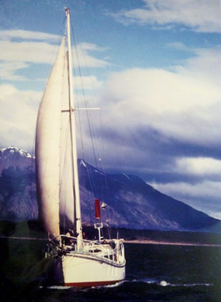 Ambler in the Beagle Channel, the extreme southern tip of South America. Photo: Cora Lojda