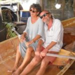 As industrious as ever, Stan and Cora seen here building their own dinghy in Bequia. Photo: Cora Lojda