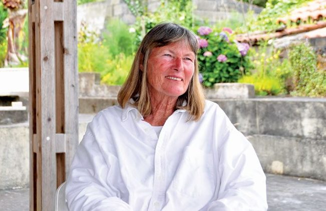 Lea de Hass at her home in the Azores