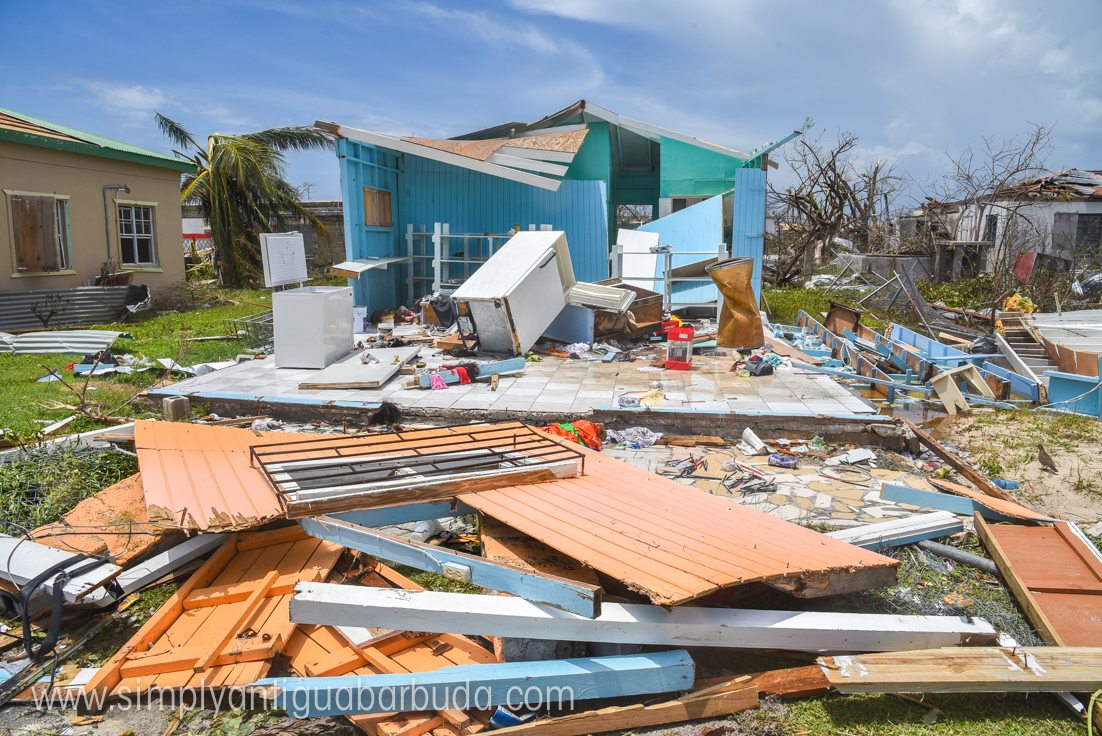 Destroyed Housing on Barbuda courtesy of Simply Antigua and Barbuda