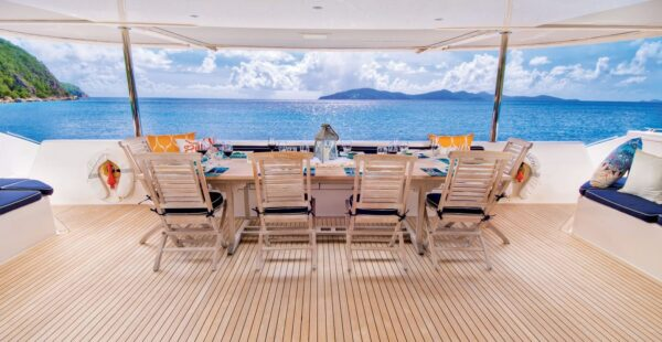 Yacht Zingara … more than a room with a view. Photo courtesy of CharterPort BVI