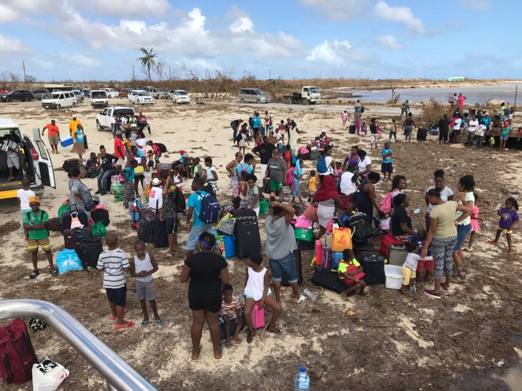 Evacuating Barbuda courtesy of Simply Antigua and Barbuda