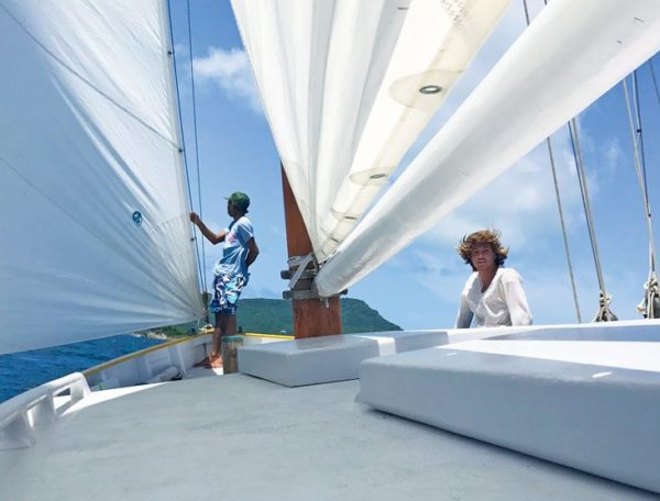 Photo taken aboard Free in St. Barth