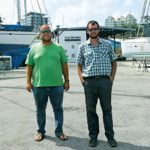 Marc Rooijakkers, managing director (left) and yard manager Gareth Weber. Photo courtesy Curaçao Marine