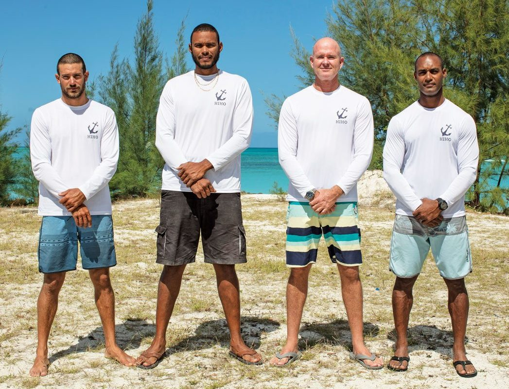 Team Antigua – Four good men and true. Photo courtesy of Team Antigua