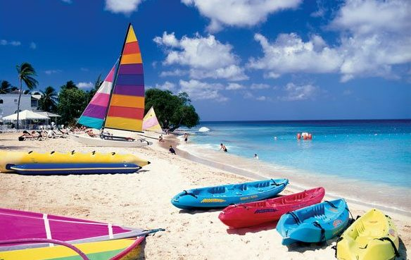 Go kayaking in Barbados – Boats on Mullins Beach. Photo courtesy of Barbados Tourism Marketing Inc