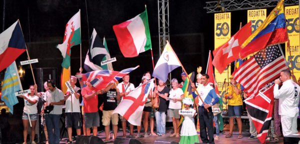 The All Nations Parade prior to the official opening on the grand stage in Kralendijk. Photo by Els Kroon