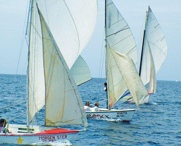Morgen Ster, Arantsa and Laurita sailing in the 2005 Regatta. Photo by Els Kroon