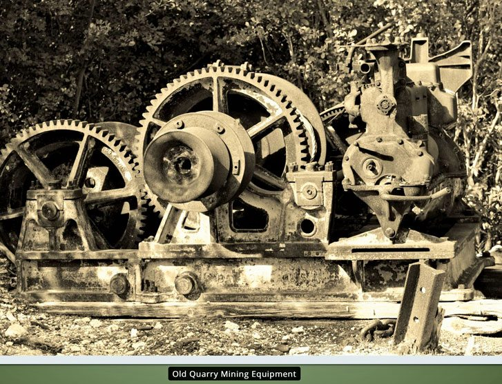 Old quarry mining equipment. Image courtesy of Windley Key Fossil Reef Geological State Park