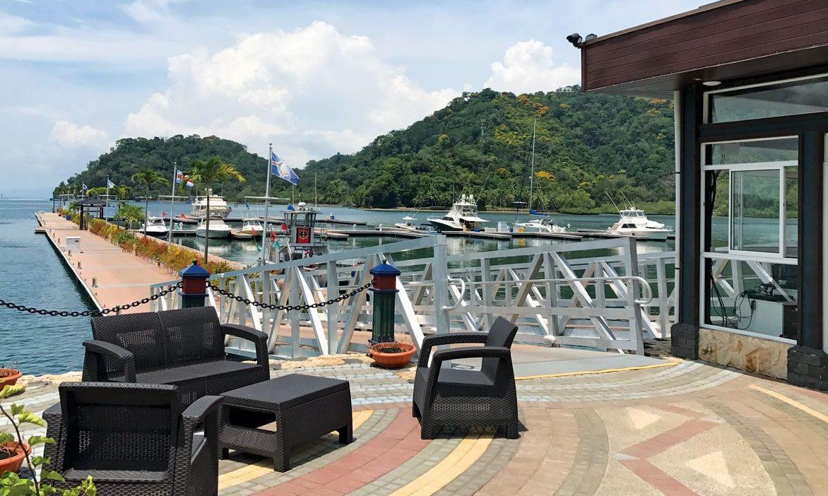 View from the marina office, Golfito Village Marina, Costa Rica