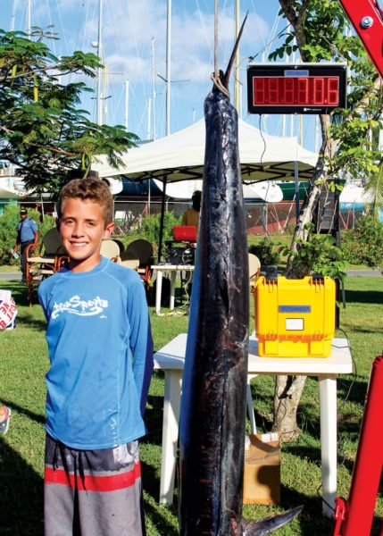 Winning angler Cameron D'Ornellas (12) landed a 70.6-pounder. Photo: Kimberley Hall
