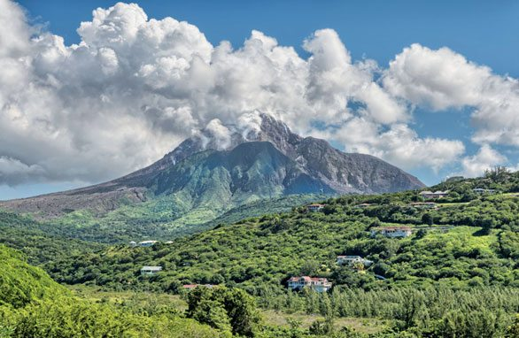 Chances Peak and Soufriere Hills in Montserrat. Photo courtesy of Montserrat Tourism Division