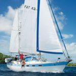 Fatty and Carolyn sailing without Morgan Freeman