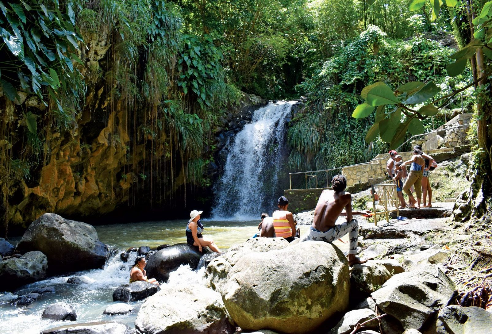 Annandale Falls – watch the locals jump from great heights or swim in the pool below. Photo by Rosie Burr