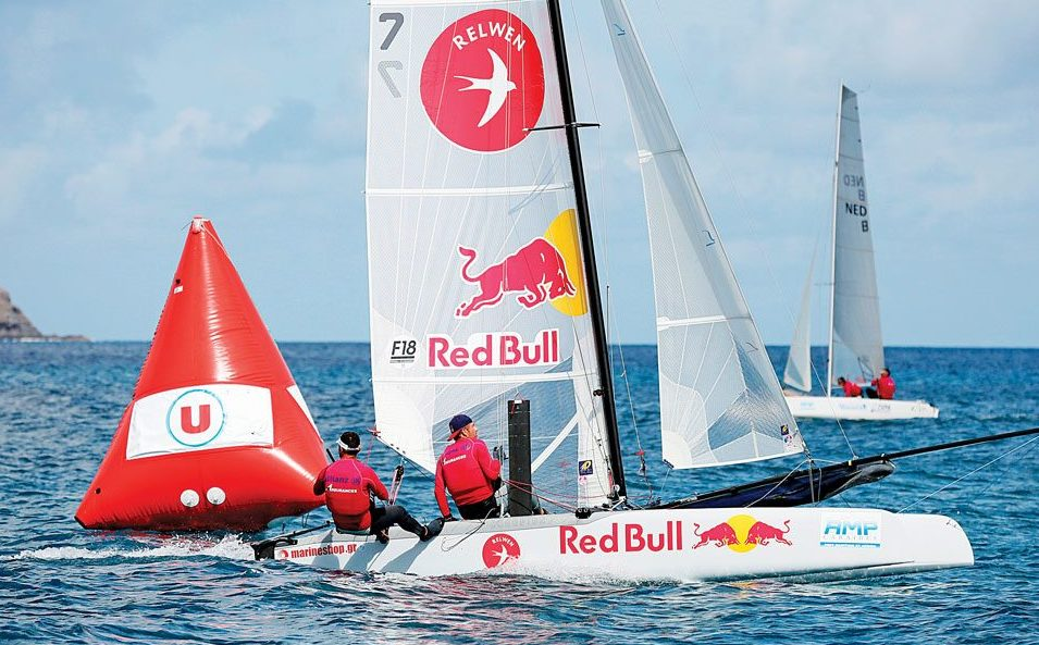 Top Team Paschalidis and Trigkonis in action. Photo: Pierrick Contin / Saint – Barth Cata Cup
