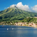 Martinique's Mount Pelee with Saint-Pierre in the foreground. Photo: Courtesy of Martinique Tourism Authority