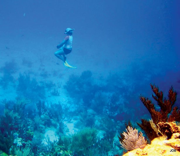 Snorkeling off your own boat is one of the perks of the cruising life. Photos Jane Baum