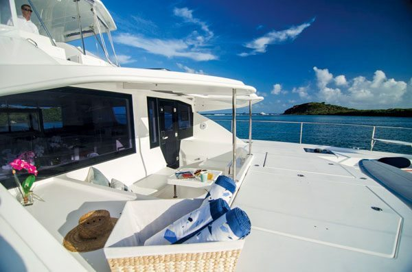 Power catamarans are less intimidating to operate … Leopard PC510, Wildcat Too. Photo courtesy of Charter Caribe, St. Thomas