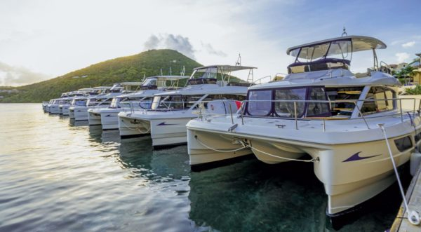 Nine charter boats, 18 hulls. Photo courtesy of MarineMax