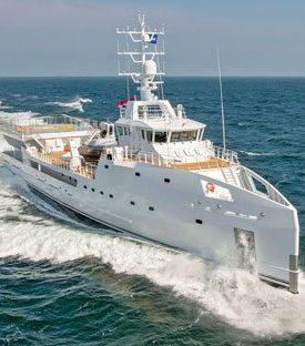 View of Game Changer at sea. Photo Damen/Michal Baginski