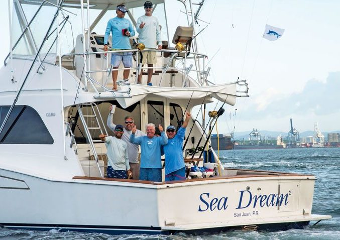 Winning boat Sea Dream was using extremely-competitive light tackle 20lb test line