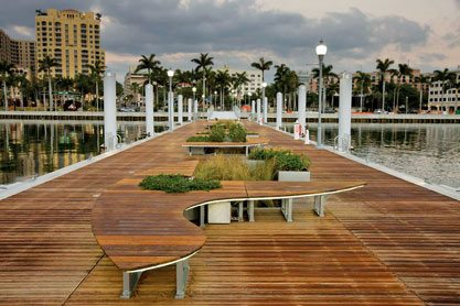 West Palm Beach Waterfront dock. Discover the Palm Beaches
