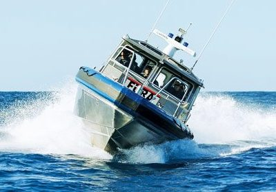 Metal Shark's latest 35ft Defiant 35 is now in service with the Puerto Rico Police Department. Photo courtesy of Metal Shark Boats