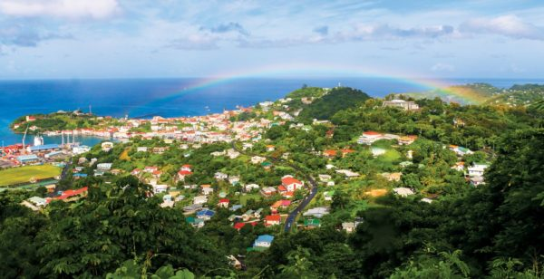 Grenada is blessed with rainbows--and Stanley marveled at each one