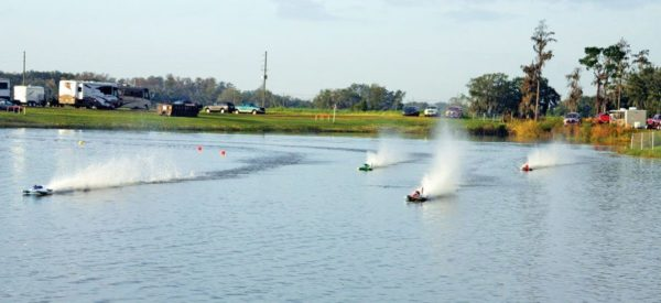 Radio Controlled (RC) boats race in Florida
