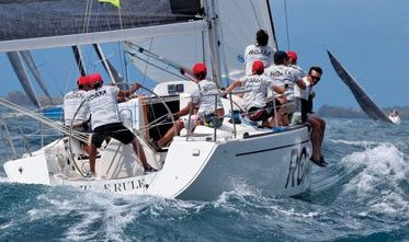 A string of bullets carried Grenada's Peter 'Champy' Evans and his Elan 37, Julie Rule to a class win and victory overall. Photo: Tim Wright