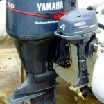 Outboards big and small … Photo courtesy of Wikimedia Commons