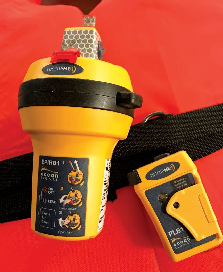 Ocean Equipment offers compact PLB and EPIRB beacons. Photo: Glenn Hayes