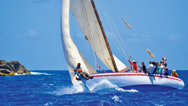 Summer Cloud racing in the West Indies Regatta. Photo by Jan Hein