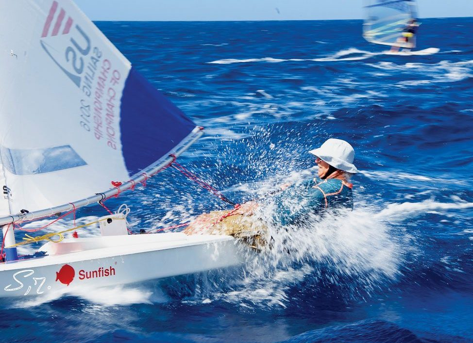 José Volny-Anne pushes his Sunfish to the limits. Photography by Sophie Reinach