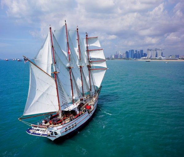 The Barquentine Royal Albatross - Oriel has the Nautical Institute's square-rig endorsement on her Yachtmaster Ocean certificate
