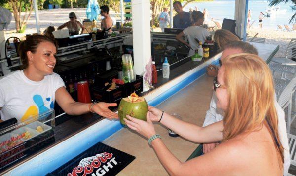 Going coconuts … Abi Beach Bar