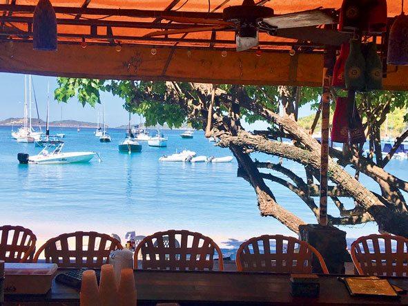 The clue's in the name: The Beach Bar, Cruz Bay, St. John