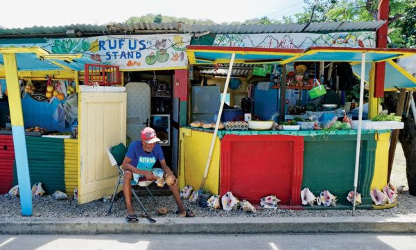 Rufus is the go-to guy in Carriacou for all things fresh. Photo by Jan Hein