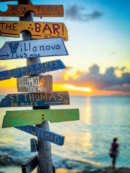 It isn't a beach bar without a sign … Rhythms on Rainbow Beach. Photo courtesy of the bar