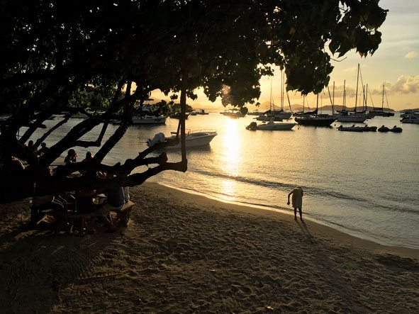 Saint John Beach Bar sunset